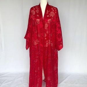 Vintage Victoria's Secret Gold Label Sheer Robe
